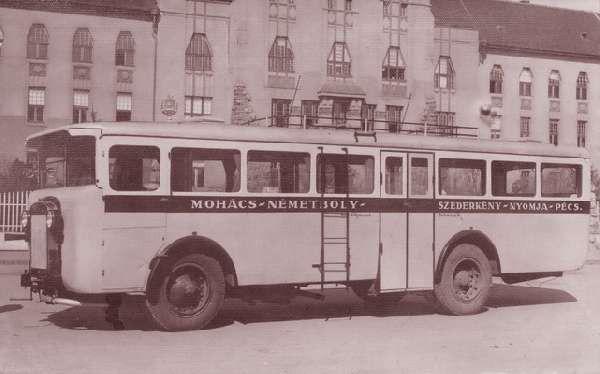 Pécsett készült busz közlekedett annak idején Mohácson is
