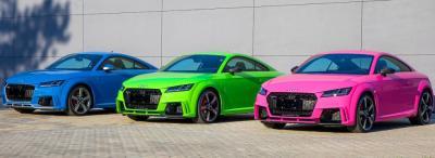 Cukorkaszínű Audi TT RS-ek Győrből