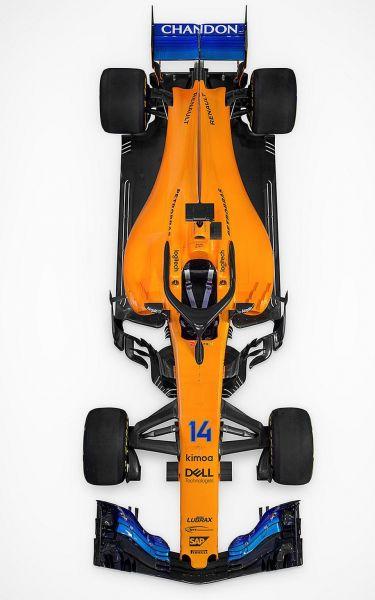 Alonso új gépe felülről