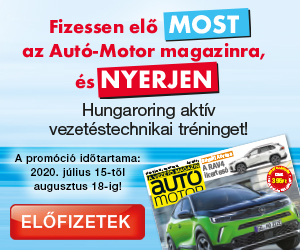Autó-Motor magazin előfizetői nyereményjáték