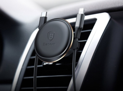 Baseus Magnetic Air Vent szellőzőrácsba illeszthető mágneses tartó. Elegáns és modern. Forrás: Etuo.hu